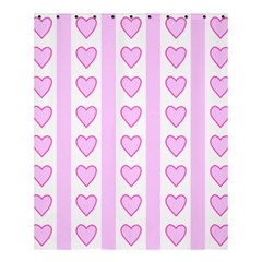 Heart Pink Valentine Day Shower Curtain 60  X 72  (medium)  by AnjaniArt