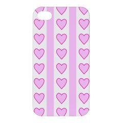 Heart Pink Valentine Day Apple Iphone 4/4s Premium Hardshell Case by AnjaniArt