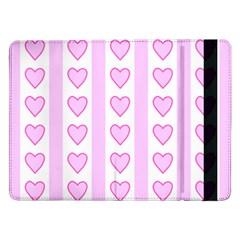 Heart Pink Valentine Day Samsung Galaxy Tab Pro 12 2  Flip Case by AnjaniArt