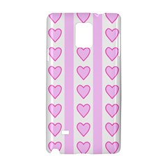 Heart Pink Valentine Day Samsung Galaxy Note 4 Hardshell Case by AnjaniArt