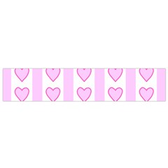 Heart Pink Valentine Day Flano Scarf (small) by AnjaniArt