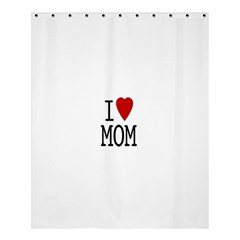 I Love Mom Shower Curtain 60  X 72  (medium)  by AnjaniArt