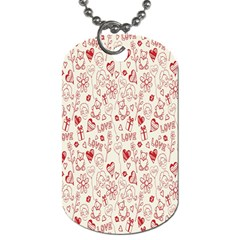 Heart Surface Kiss Flower Bear Love Valentine Day Dog Tag (one Side) by AnjaniArt