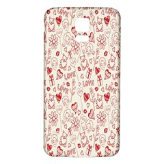 Heart Surface Kiss Flower Bear Love Valentine Day Samsung Galaxy S5 Back Case (white) by AnjaniArt