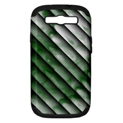 Green Bamboo Samsung Galaxy S Iii Hardshell Case (pc+silicone) by AnjaniArt