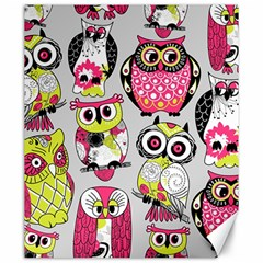 Illustration Seamless Colourful Owl Pattern Canvas 20  X 24   by AnjaniArt