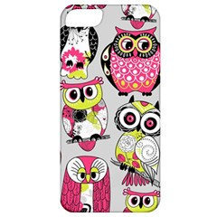 Illustration Seamless Colourful Owl Pattern Apple Iphone 5 Classic Hardshell Case