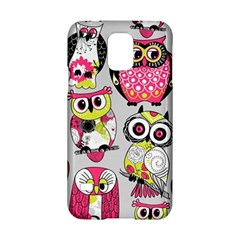 Illustration Seamless Colourful Owl Pattern Samsung Galaxy S5 Hardshell Case  by AnjaniArt