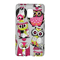 Illustration Seamless Colourful Owl Pattern Galaxy Note Edge by AnjaniArt