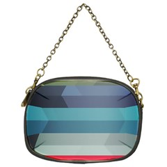 Line Light Stripes Colorful Chain Purses (one Side)  by AnjaniArt