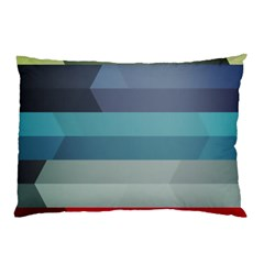 Line Light Stripes Colorful Pillow Case (two Sides) by AnjaniArt