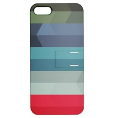Line Light Stripes Colorful Apple Iphone 5 Hardshell Case With Stand by AnjaniArt