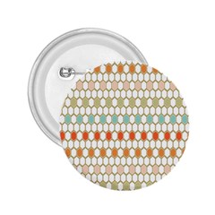 Lab Pattern Hexagon Multicolor 2 25  Buttons by AnjaniArt