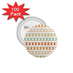 Lab Pattern Hexagon Multicolor 1 75  Buttons (100 Pack)  by AnjaniArt