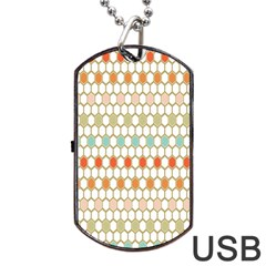 Lab Pattern Hexagon Multicolor Dog Tag Usb Flash (two Sides)  by AnjaniArt
