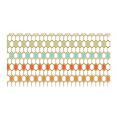Lab Pattern Hexagon Multicolor Satin Wrap by AnjaniArt