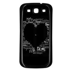 Love Valentine Day Samsung Galaxy S3 Back Case (black) by AnjaniArt