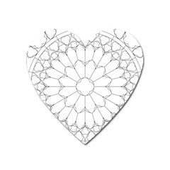 Roses Stained Glass Heart Magnet