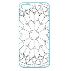 Roses Stained Glass Apple Seamless Iphone 5 Case (color) by Amaryn4rt