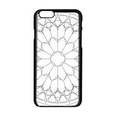 Roses Stained Glass Apple Iphone 6/6s Black Enamel Case by Amaryn4rt