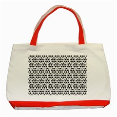 Seamless Honeycomb Pattern Classic Tote Bag (red) by Amaryn4rt