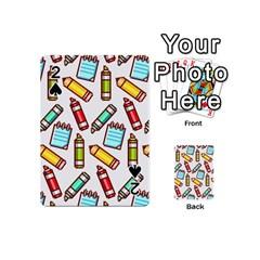 Seamless Pixel Art Pattern Playing Cards 54 (mini)  by Amaryn4rt
