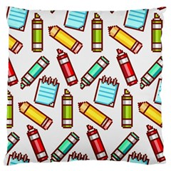 Seamless Pixel Art Pattern Large Cushion Case (two Sides) by Amaryn4rt
