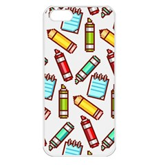Seamless Pixel Art Pattern Apple Iphone 5 Seamless Case (white) by Amaryn4rt