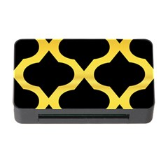 Seamless Gold Pattern Memory Card Reader With Cf by Amaryn4rt