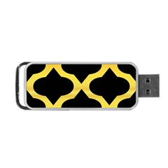 Seamless Gold Pattern Portable Usb Flash (two Sides)