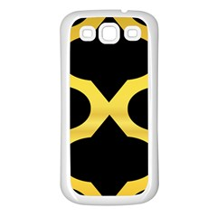 Seamless Gold Pattern Samsung Galaxy S3 Back Case (white) by Amaryn4rt