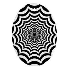 Spider Web Hypnotic Ornament (oval)  by Amaryn4rt
