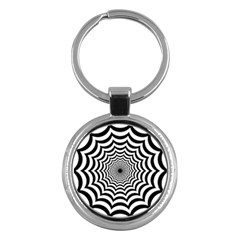 Spider Web Hypnotic Key Chains (round)  by Amaryn4rt