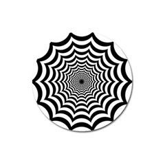 Spider Web Hypnotic Magnet 3  (round) by Amaryn4rt