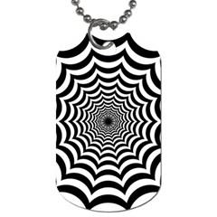 Spider Web Hypnotic Dog Tag (two Sides) by Amaryn4rt