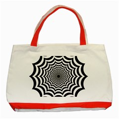 Spider Web Hypnotic Classic Tote Bag (Red) by Amaryn4rt
