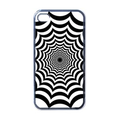 Spider Web Hypnotic Apple Iphone 4 Case (black) by Amaryn4rt