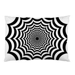 Spider Web Hypnotic Pillow Case (two Sides) by Amaryn4rt