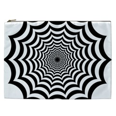 Spider Web Hypnotic Cosmetic Bag (xxl)  by Amaryn4rt