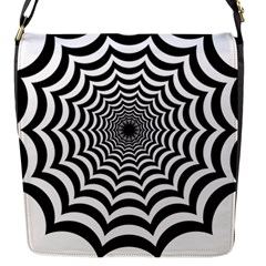 Spider Web Hypnotic Flap Messenger Bag (s) by Amaryn4rt