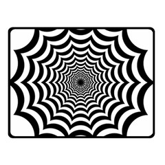 Spider Web Hypnotic Double Sided Fleece Blanket (small)  by Amaryn4rt