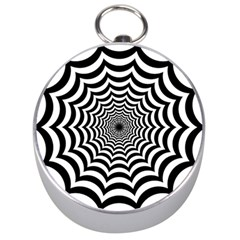 Spider Web Hypnotic Silver Compasses by Amaryn4rt