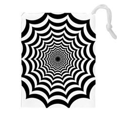 Spider Web Hypnotic Drawstring Pouches (xxl) by Amaryn4rt