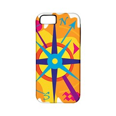 Orange Navigation Apple Iphone 5 Classic Hardshell Case (pc+silicone) by Valentinaart
