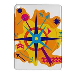 Orange Navigation Ipad Air 2 Hardshell Cases by Valentinaart