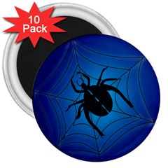 Spider On Web 3  Magnets (10 Pack)