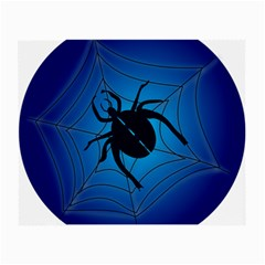 Spider On Web Small Glasses Cloth by Amaryn4rt
