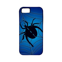 Spider On Web Apple Iphone 5 Classic Hardshell Case (pc+silicone) by Amaryn4rt