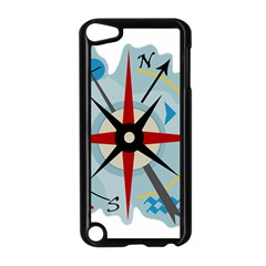 Navigation Apple Ipod Touch 5 Case (black) by Valentinaart