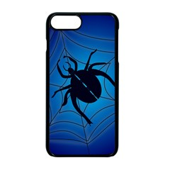 Spider On Web Apple Iphone 7 Plus Seamless Case (black) by Amaryn4rt